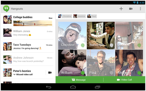 hangouts app for android revamped
